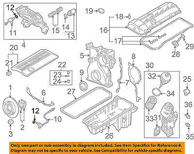 details about bmw oem 10-18 x5 4 4l-v8 engine-camshaft sensor o-ring  12141748398