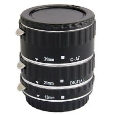 UK Store! CameraPlus® Macro Extension Tube Silver (13mm, 21mm, 31mm) For Canon