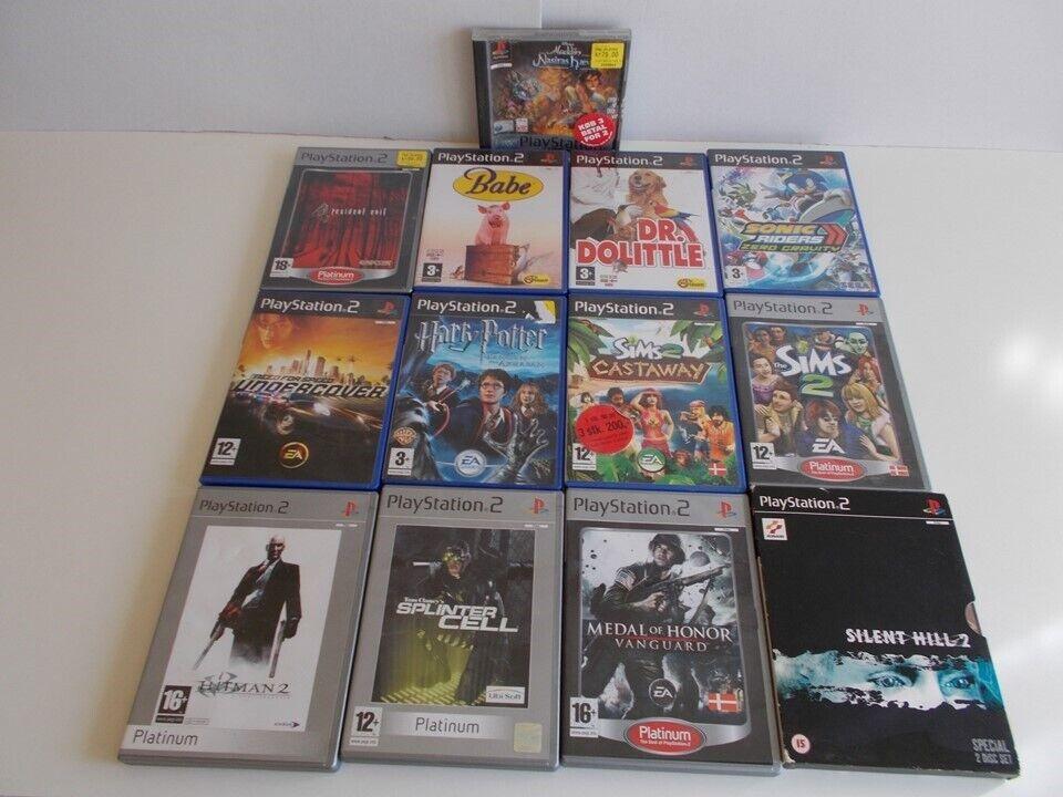 Playstation 2, Playstation 2 (slim) med diverse tilbehør.