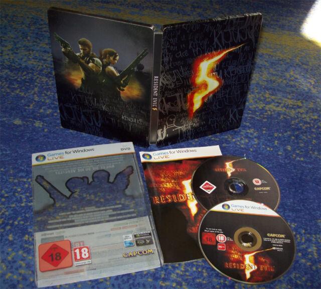 Resident Evil 5 / V - Collector's Steelbook Edition (PC) - USK 18 - DEUTSCH
