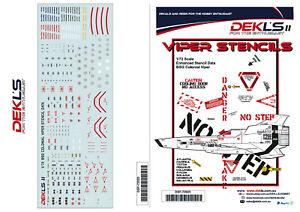 1/72 Colonial Viper - Enhanced Stencils Decal DEK L's II