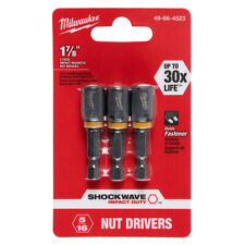 Milwaukee 49 66 4523 516 X 1 78 Shockwave Magnetic Nut Driver 3 Pack