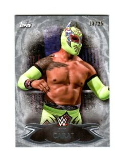 WWE-Sin-Cara-43-2015-Topps-Undisputed-Silver-Parallel-Base-Card-SN-13-of-25