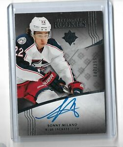 Sonny-Milano-Columbus-Blue-Jackets-2016-17-Ultimate-collection-Rookie-auto-299