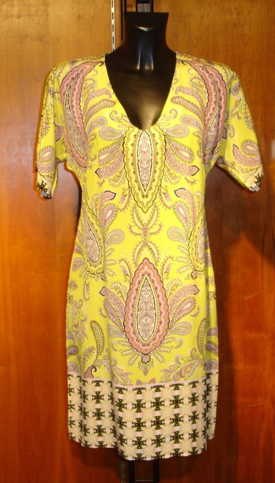 Charlotte Sparre Seide Gelb Gelb Gelb Kleid Neu mit Etikett Größe 14 | Zart  | Um Zuerst Unter ähnlichen Produkten Rang  0f4e43