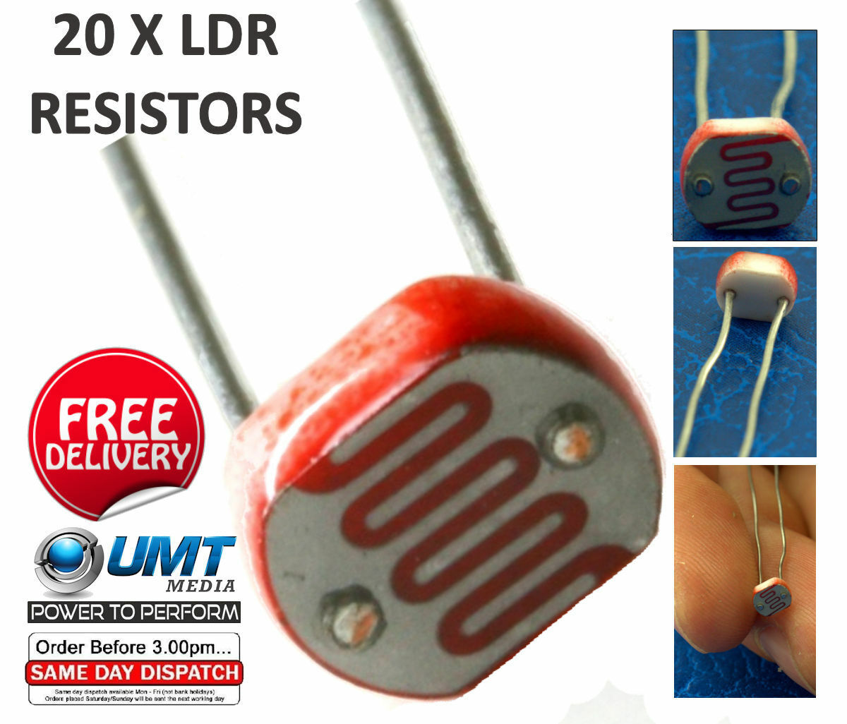 20 X Ldr Light Dependent Resistors 5mm Photoresistor G5528 Arduino Working Of Raspberry Pi