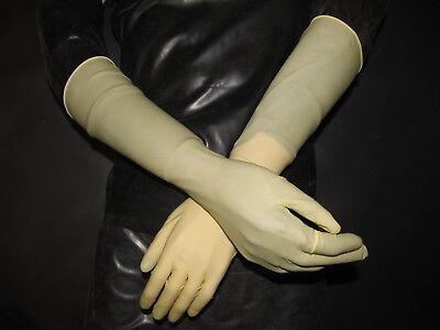 Bescheiden 5 Paar,40 Cm Lange Latexhandschuhe,gummihandschuhe,clean,ellenbogenlang,9/l