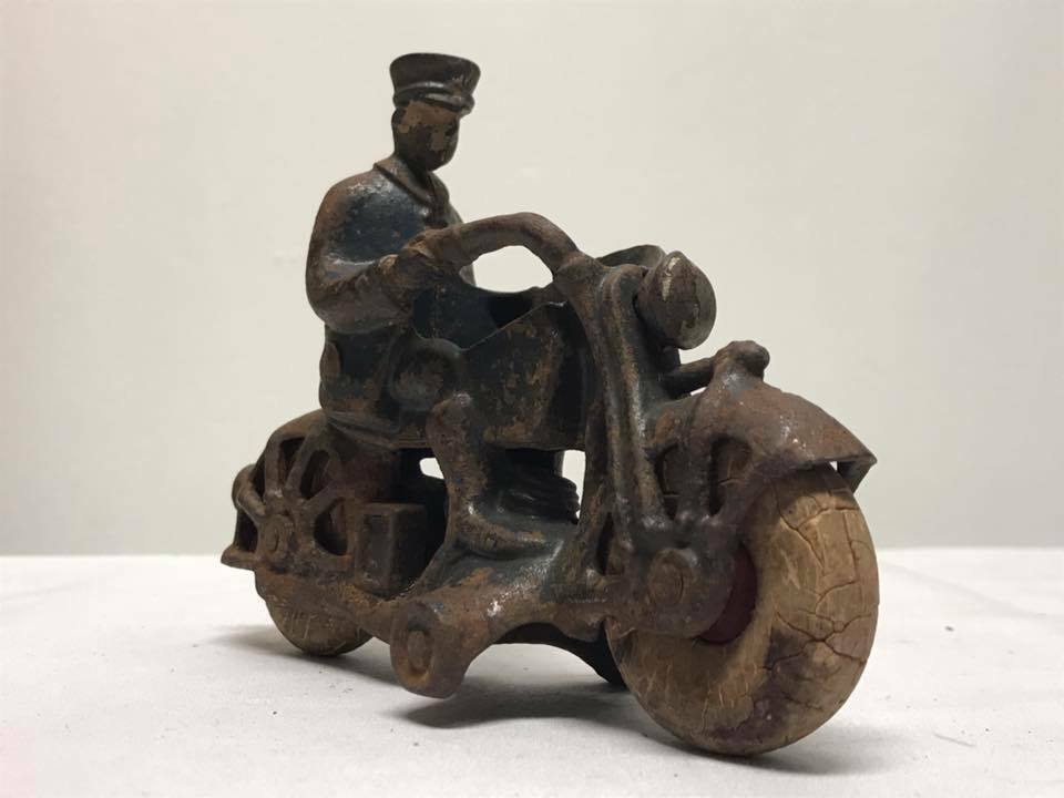 Antique AC Williams Cast Iron Champion Motorcycle