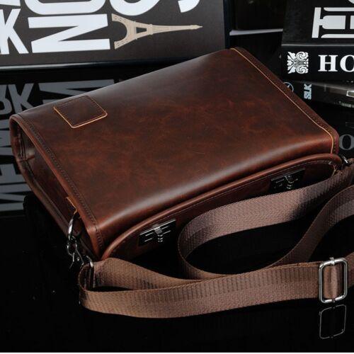 Men/'s Briefcase Casual Business Shoulder Bag Leather Messenger Satchel Bag