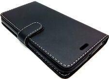 Extra Fine Black Leather Protective Flip Wallet Case Cover Motorola Moto G4 Plus