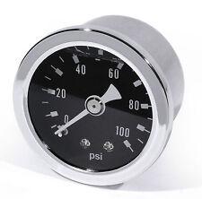 Manometro Pressione Olio Indicatore nero -100 PSI 6 Bar Moto Auto Performance