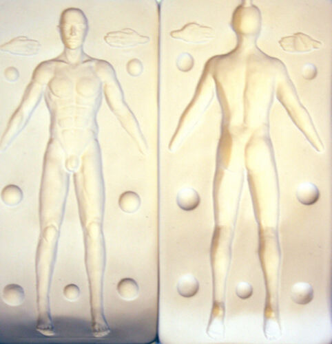 """MALE 8/"""" tall PRESS MOLD FOR POLYMER CLAY ARTISTS by Patricia Rose TROY"""
