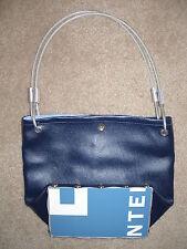 Unique Bike Lock Cable Handles Purse Handbag NWOT Blue