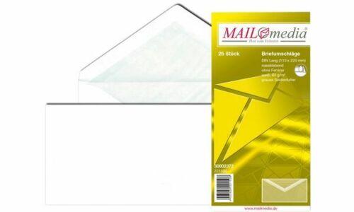 MAILmedia Briefumschlag Offset weiß mit Seidenfutter D lang