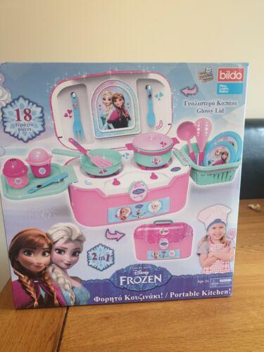 Disney Frozen 2 en 1 portable cuisine 18 Pièce Lot Jeu Cadeau Nouveau Officiel