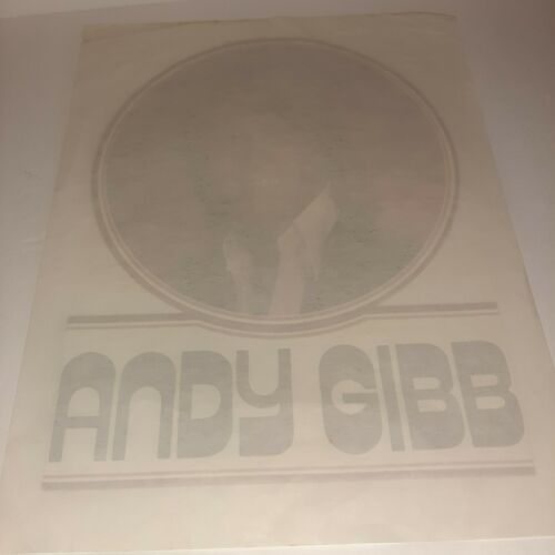 Original Vintage 70s Andy Gibb Bee Gees Iron On Tr