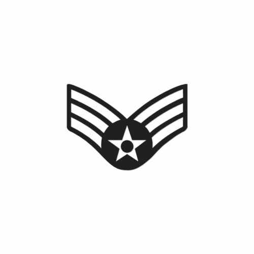 Senior Airman Patch ebn3677 Vinyl Decal Sticker Multiple Colors /& Sizes