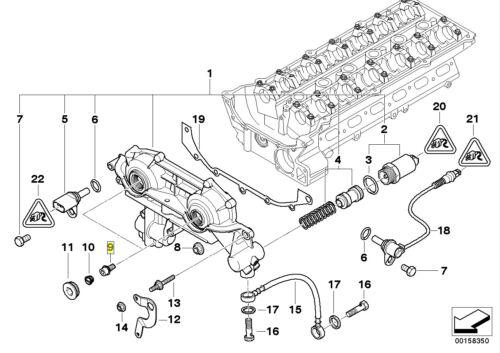 BMW M52 M54 Moteur VANOS arbre à cames T30 Torx M6 Boulon Outillage lunaire 11361748745