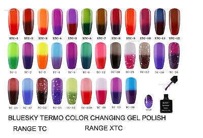 BlueSky Chameleon Temperature Change Color uv gel nail polish soak-off.