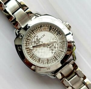 Coach-watch-silver-tone-with-crystals-ladies-womens-watch-2