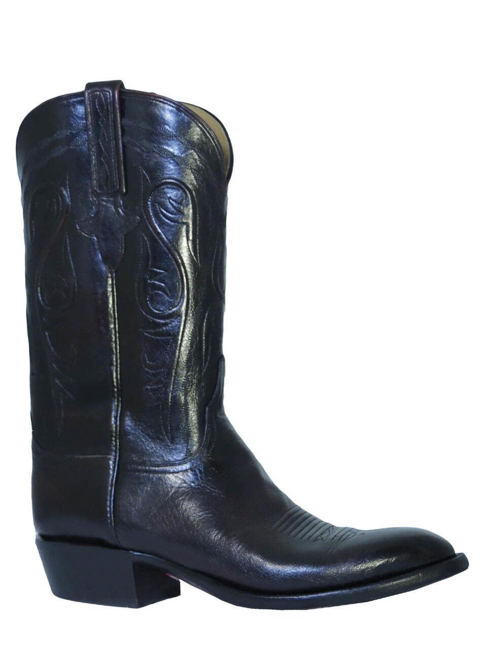 Men's Lucchese Classics botas De Búfalo cereza negra L1580.X13