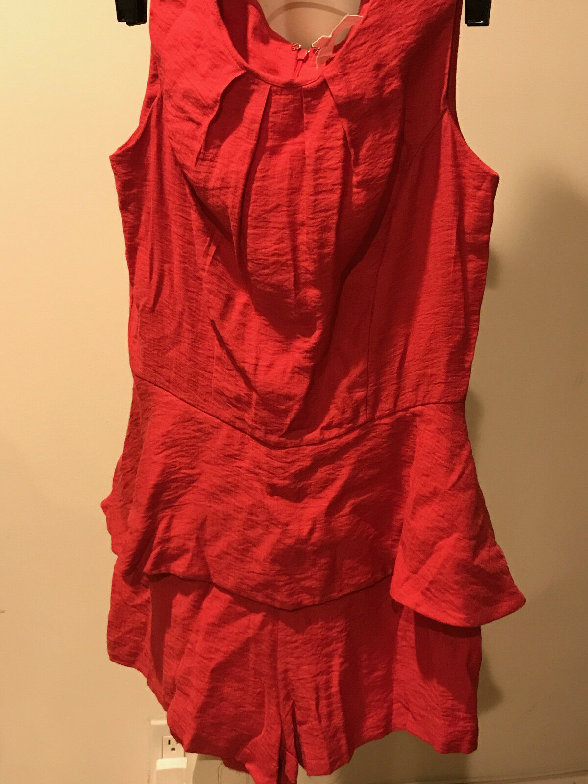 Preowned ALEXIS orange JUMPER ROMPER  SIZE S    BB