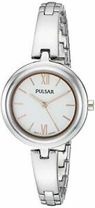 WOMENS-LADIES-NEW-WATCH-PULSAR-PG2037X-TWO-TONE-Silver-with-Rose-Gold-Highlights