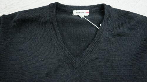 à inversée en M noir Knit Taille 100laine encolure Woolmark V Wear Pull Bnwt mérinos lKTJF1c