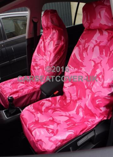 VW Transporter T4-Rosa Camuflaje Impermeable Camioneta Fundas De Asiento 2 X frentes