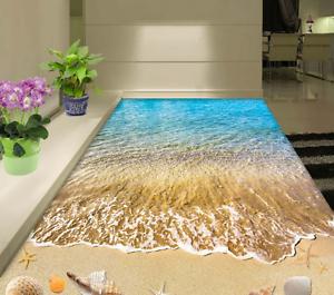 3D Marea Playa Shell Papel Pintado Mural Parojo Impresión de suelo 7 5D AJ Wallpaper Reino Unido Limón
