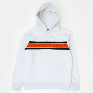 Supreme SS19 Chest Stripe Logo Hooded Sweatshirt camp box hat logo cap Red