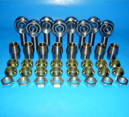 "1-3//8 x.120 3//4/"" x 5//8/"" 4-Link Chromoly Rod End Kit  W// Cone Spacers Heim"