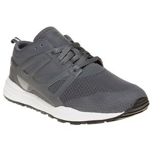 3abe27ba23a New Mens Reebok Grey Ventilator Adapt Textile Trainers Running Style ...