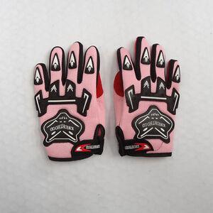 Pink-Kids-Children-Motorcycle-Gloves-Motorbike-Gear-Motorcross-S-M-L-Size