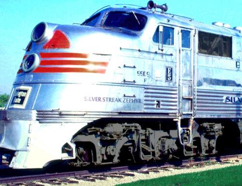 Silver Streak Zephyr Burlington Railroad Poster New Retro Train Art Print 163