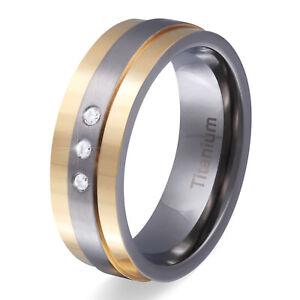 Damen-Titanringe-Verlobungsring-aus-Titan-Zirkonia-inkl-Gratis-Gravur-T9D