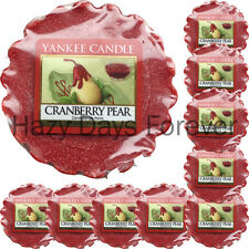 10 YANKEE CANDLE WAX TARTS Cranberry Pear MELTS fruity tartlets