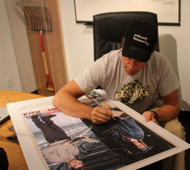 Mike Rowe Limited Edition Autographed Work Smart AND Hard Poster
