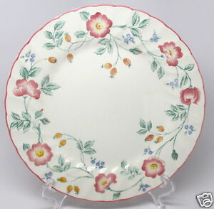 BRIAR-ROSE-by-CHURCHILL-8-034-Bread-amp-Butter-PLATE-Made-In-STAFFORDSHIRE-ENGLAND