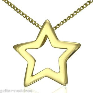 Solid-9ct-Gold-Fallen-Star-Pendant-Charm-amp-Necklace-Chain-Jewellery-Gift-Set-9k