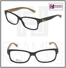 e07c53f40e CHRISTIAN DIOR CD3202 Black Havana Gold Square 52mm RX Optical Eyeglasses  Unisex