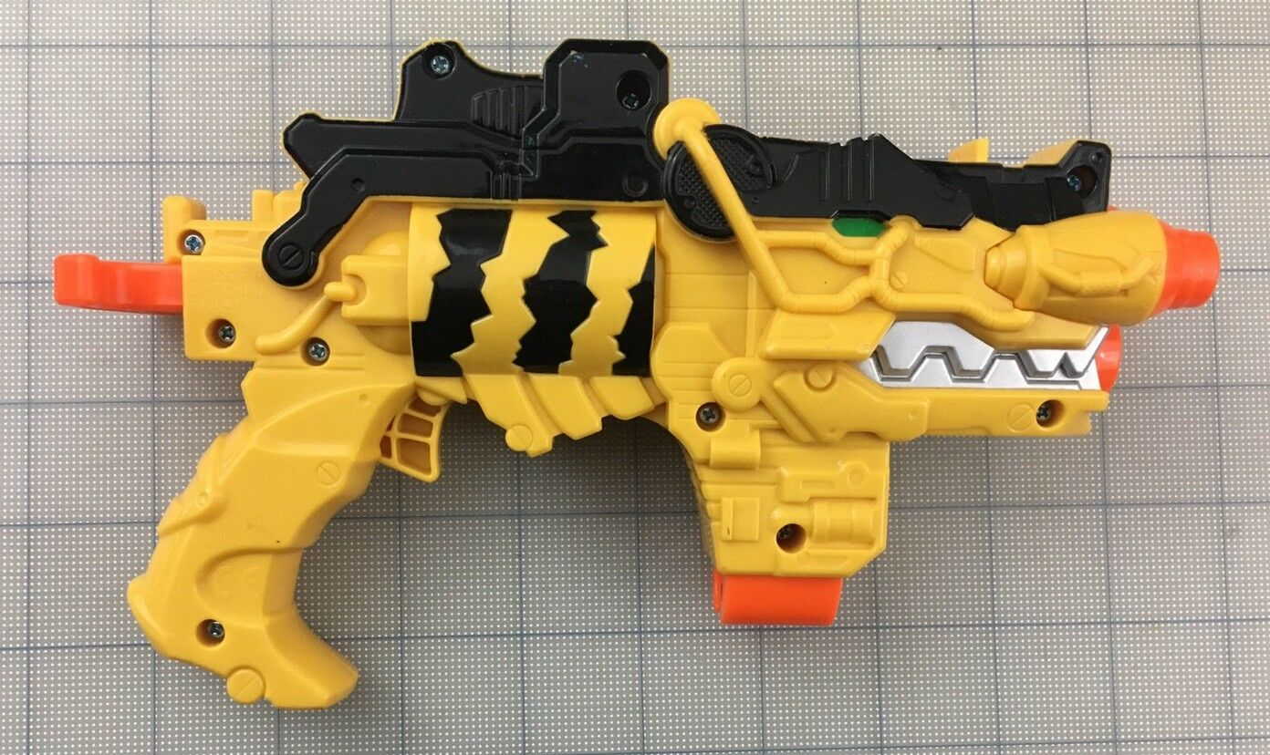 POWER RANGERS Dino Super Charge Missile Launch Morpher Blaster Gun Works, Bandai