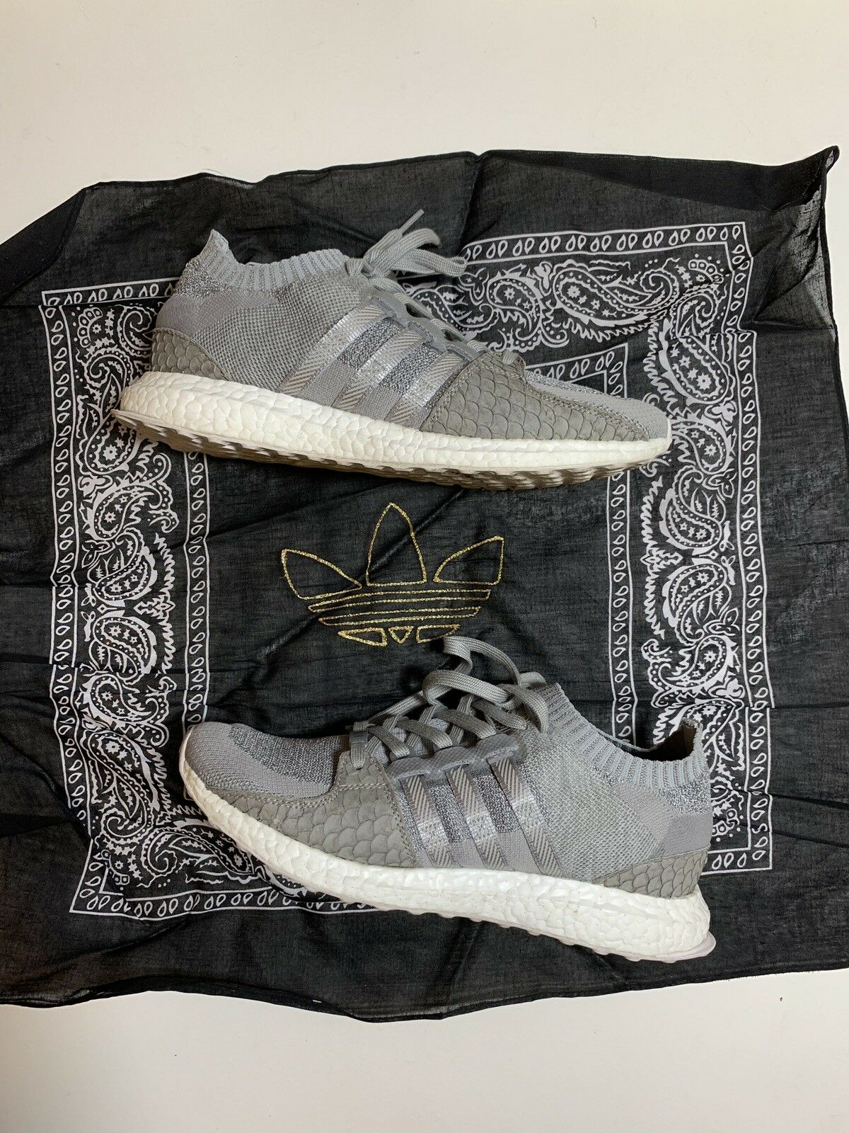 Adidas x Pusha T EQT Support Ultra Boost PK Stone Grey White Size 10 Primeknit