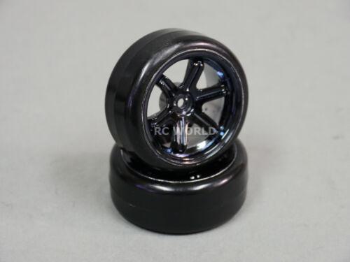 RC Car 1//10 DRIFT WHEELS TIRES Package 3MM Offset  6 Star  BLACK