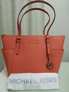 0be36f79c924 MICHAEL KORS Jet Set Top-Zip Saffiano Leather Tote - Pink Grapefruit ...