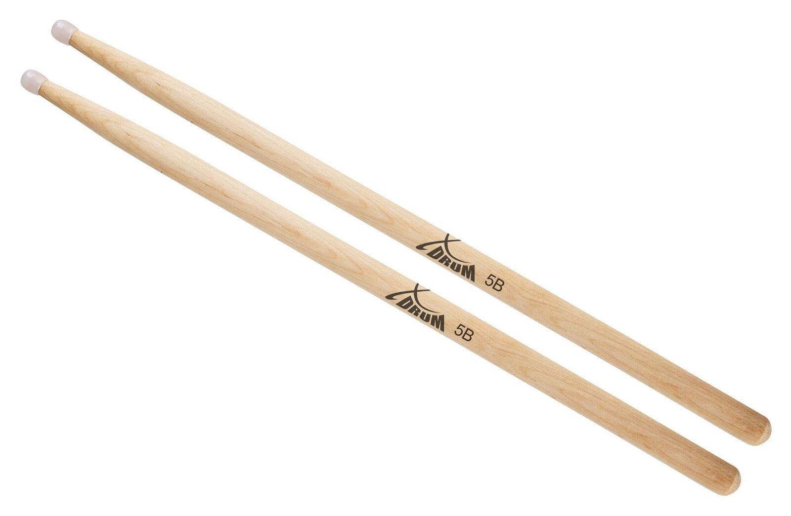 2pcs Ahorn Holz Drumsticks 5A Trommelstöcke Schlagzeug Instrumente Teile #JT1