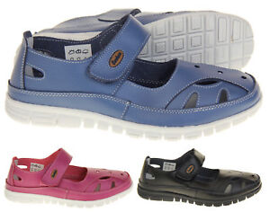Ladies Coolers Wide Fit Leather Sandals