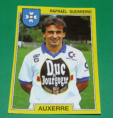 PANINI VIGNETTE STICKER FOOTBALL FOOT 92 N°14 AUXERRE RAPHAEL GUERREIRO