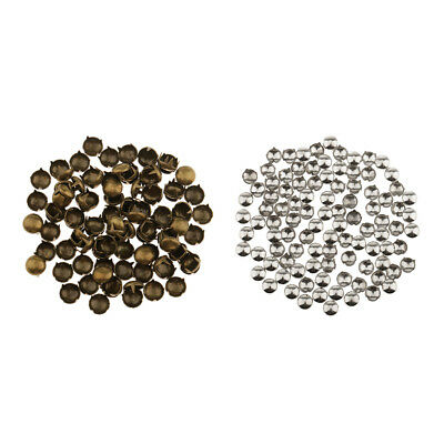 100pcs 2mm Round Head Dome Spike Studs Punk Rivets for Leathercraft Clothing Bag