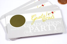 Graduation Graduate Scratch Off Game Tickets Party Favors